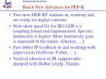 run 6 new advances for pep ii
