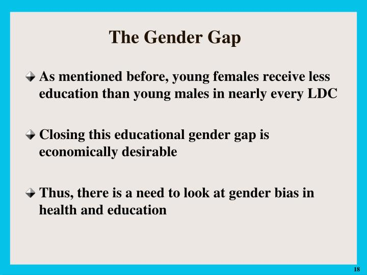 presentation for education of gender gap Global gender gap report where decades of substantial investment have dramatically reduced the gender gap in education but where the gender gap in economic.