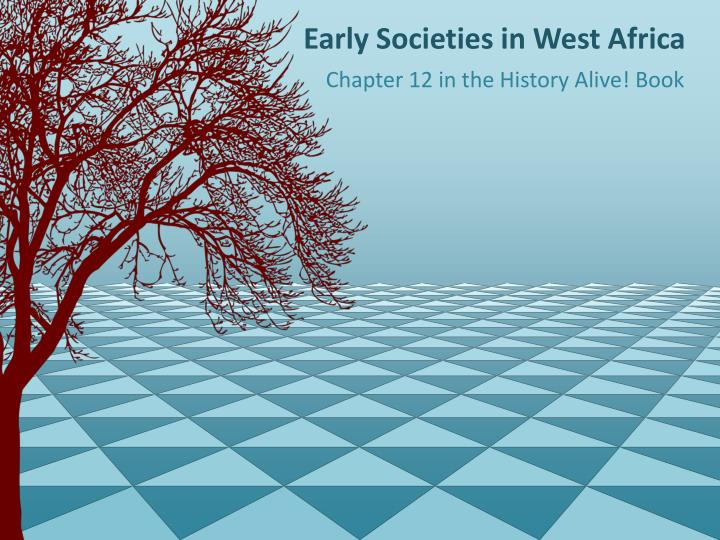 early societies in west africa n.