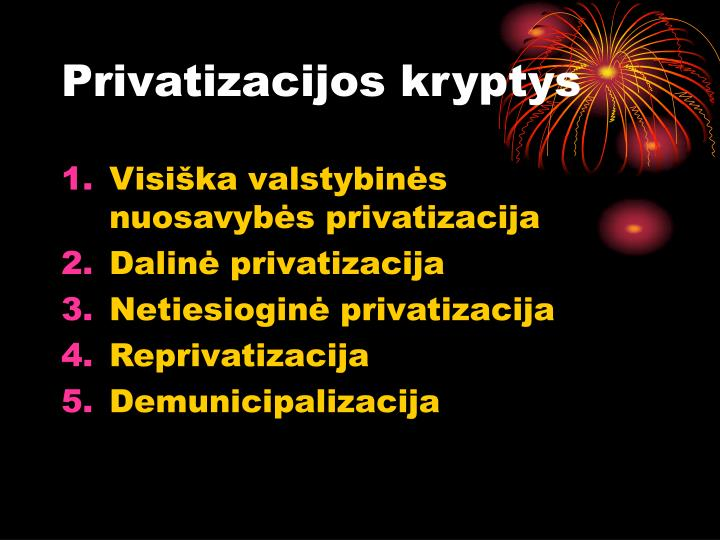 Privatizacijos kryptys