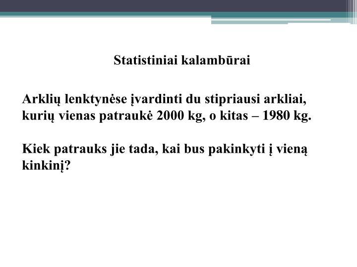Statistiniai kalambūrai