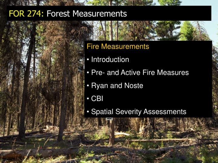 for 274 forest measurements n.