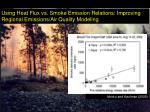 using heat flux vs smoke emission relations improving regional emissions air quality modeling