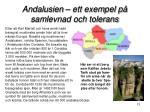 andalusien ett exempel p samlevnad och tolerans