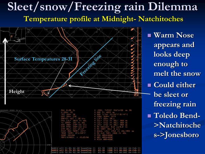 Sleet/snow/Freezing rain Dilemma