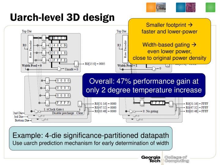 Uarch-level 3D design