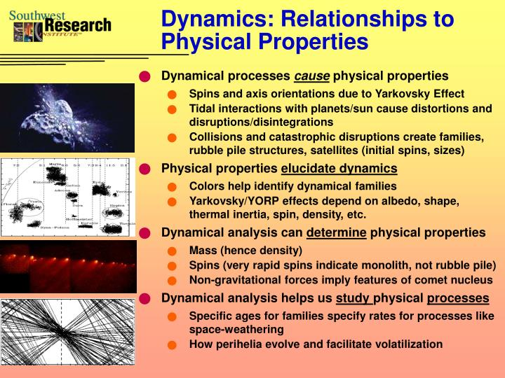 Dynamics: Relationships to Physical Properties