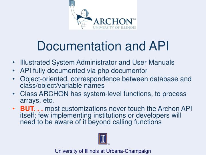 Documentation and API