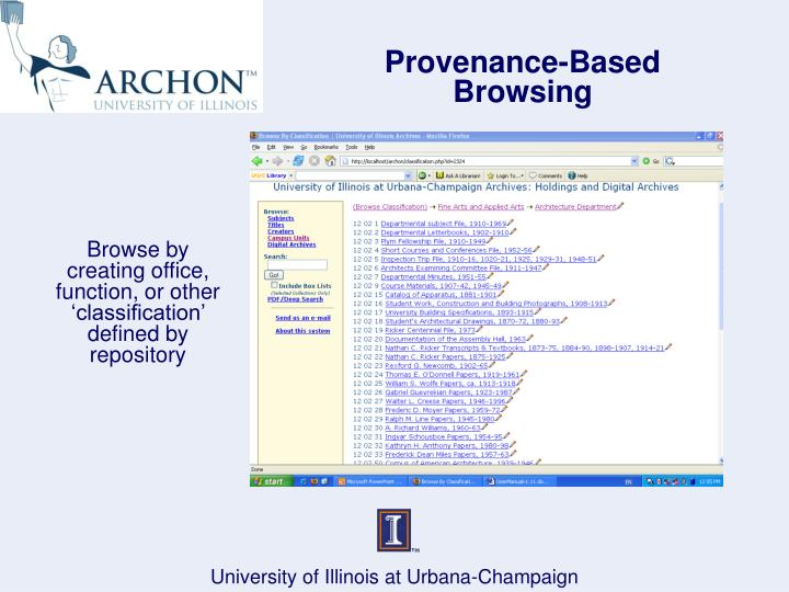 Provenance-Based Browsing
