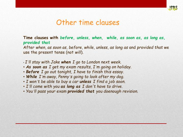 Other time clauses