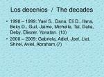 los decenios the decades2