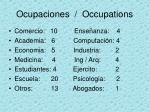 ocupaciones occupations