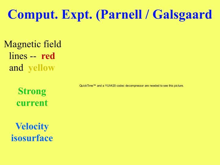 Comput. Expt. (Parnell / Galsgaard