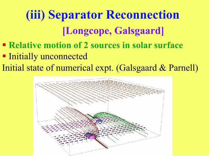 (iii) Separator Reconnection