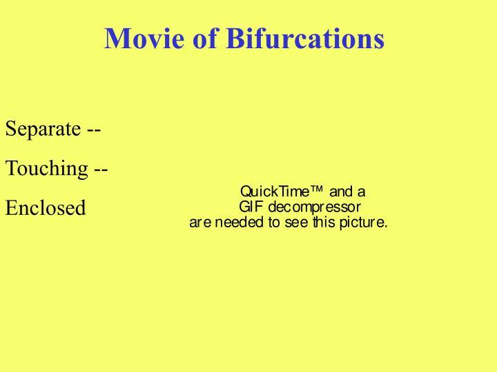 Movie of Bifurcations
