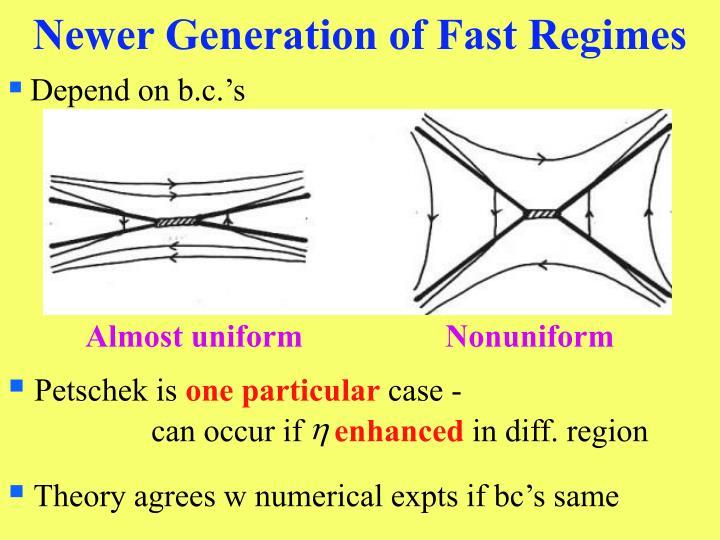 Newer Generation of Fast Regimes