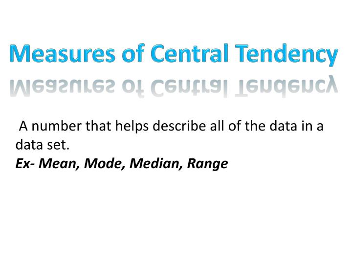 Measures of Central