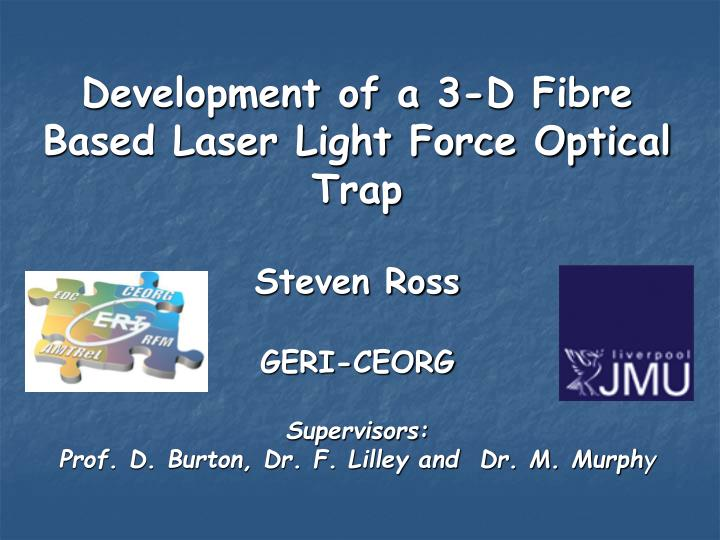 development of a 3 d fibre based laser light force optical trap n.