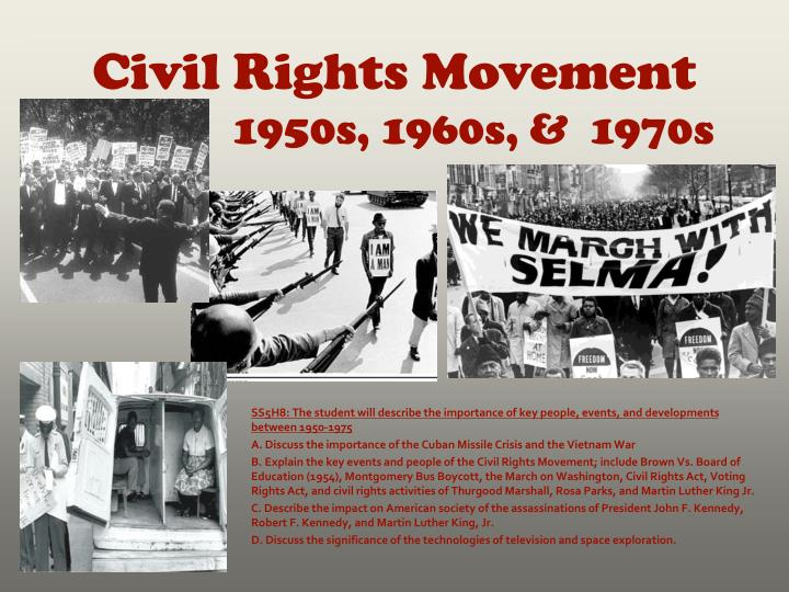 civil rights movement 1950s 1960s 1970s