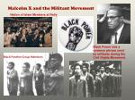 malcolm x and the militant movement