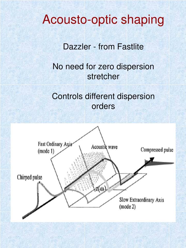 Acousto-optic shaping