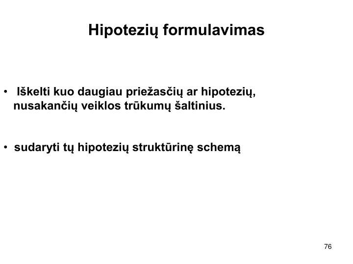 Hipotezių formulavimas