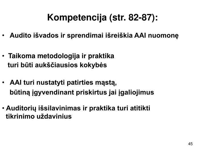 Kompetencija (str. 82-87):