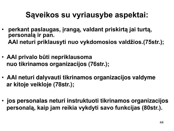 Sąveikos su vyriausybe aspektai: