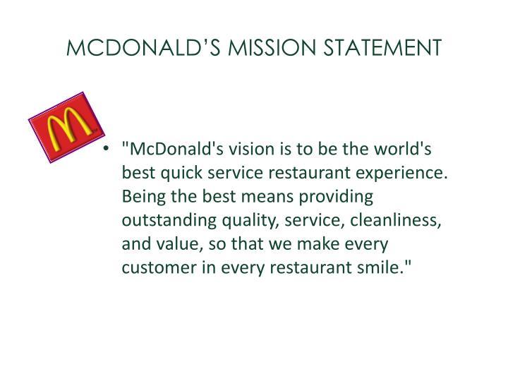 mcdonalds mission statement