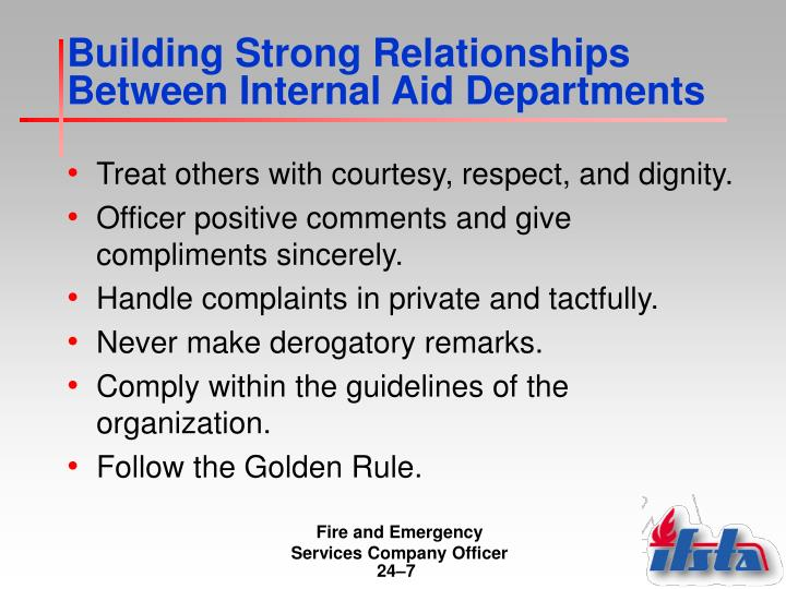 Building Strong Relationships Between Internal Aid Departments