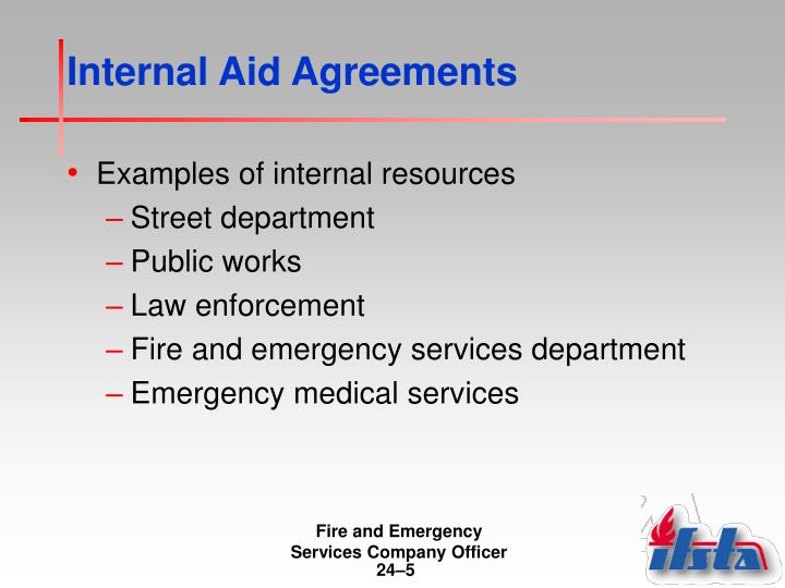 Internal Aid Agreements