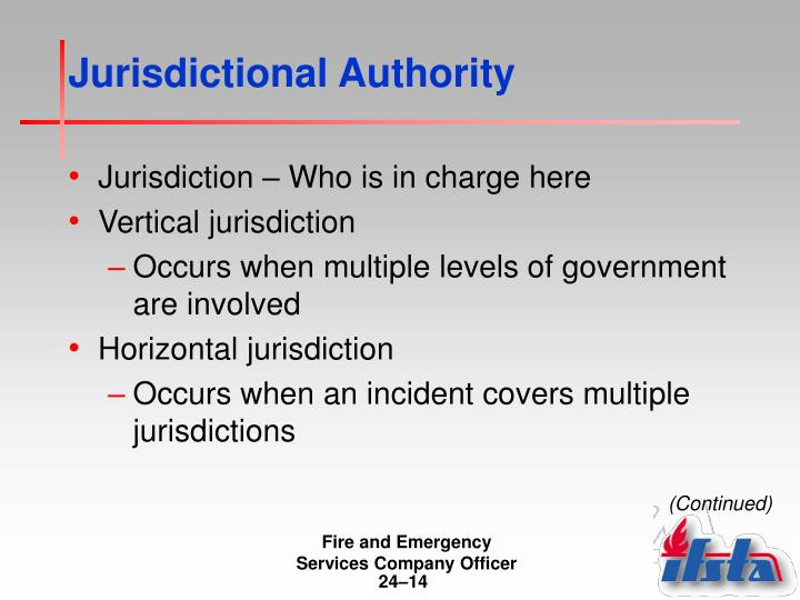 Jurisdictional Authority