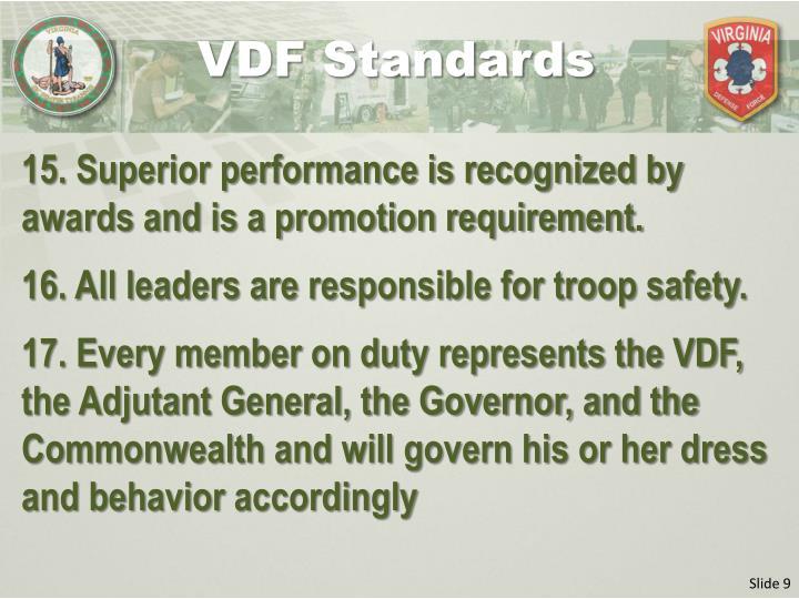 VDF Standards