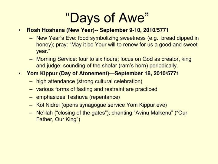 """""""Days of Awe"""""""