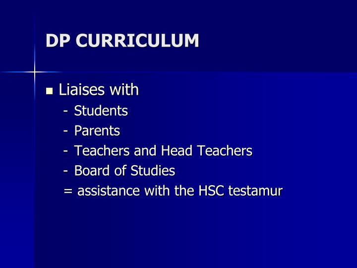Dp curriculum