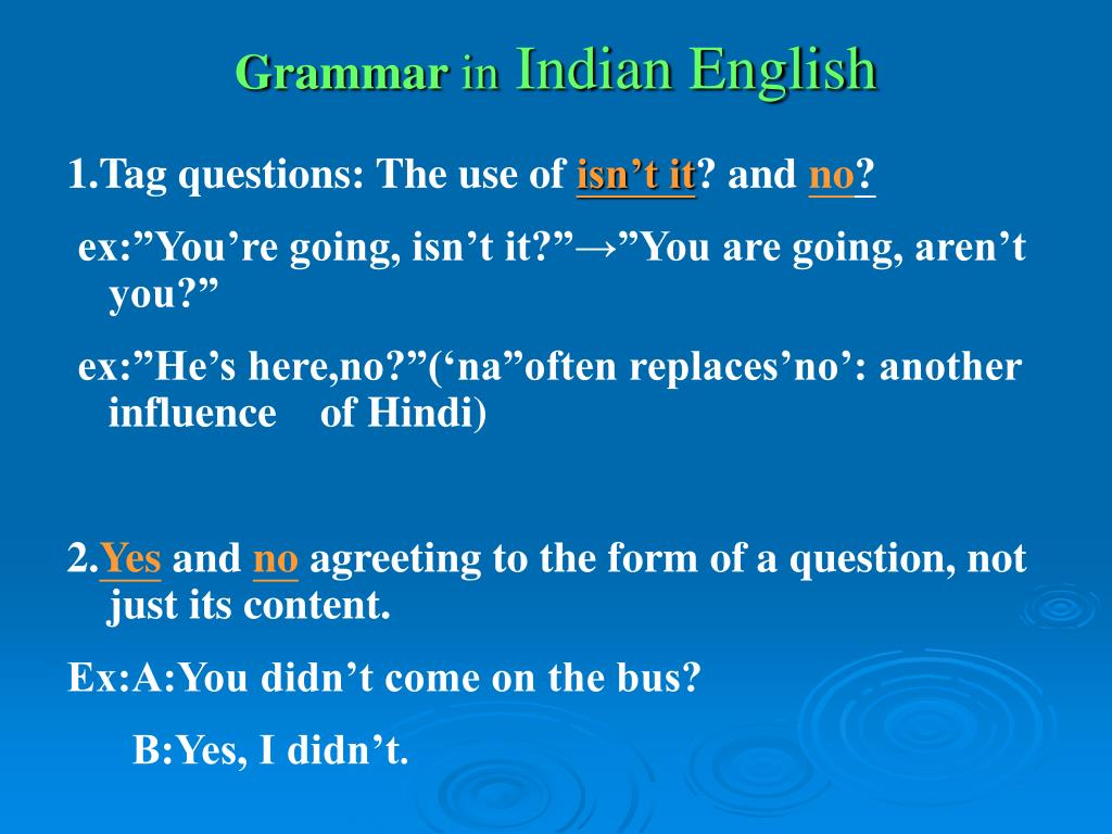 PPT - The Introduction to Indian English PowerPoint