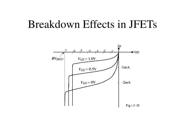 Breakdown Effects in JFETs