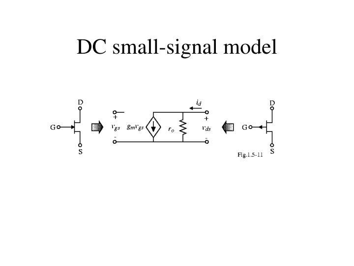 DC small-signal model