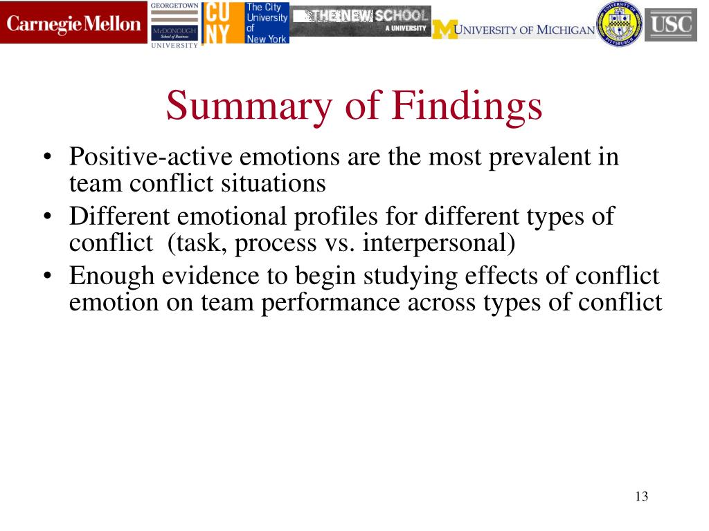 PPT - Excited to Disagree? A Study of Emotions in Team Conflict