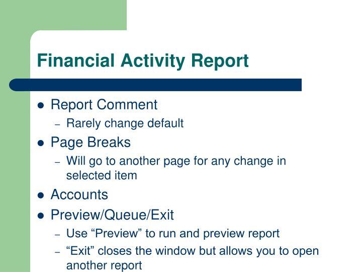 activity 1 report