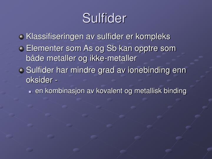 Sulfider