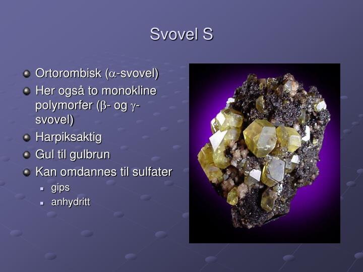 Svovel S