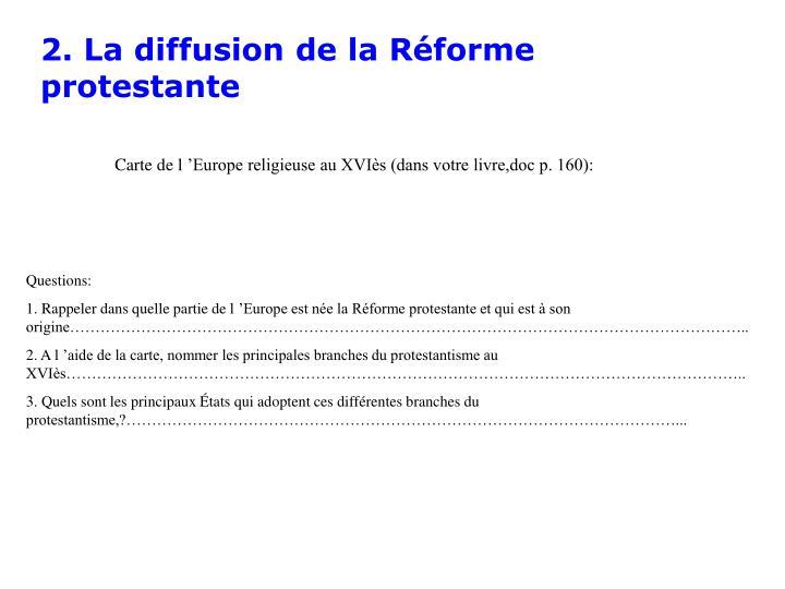 2. La diffusion de la Réforme protestante