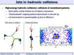 jets in hadronic collisions