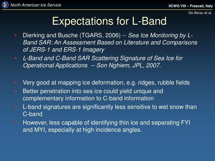 Expectations for L-Band