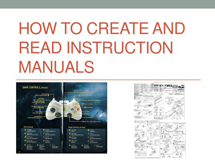 how to create and read instruction manuals n.