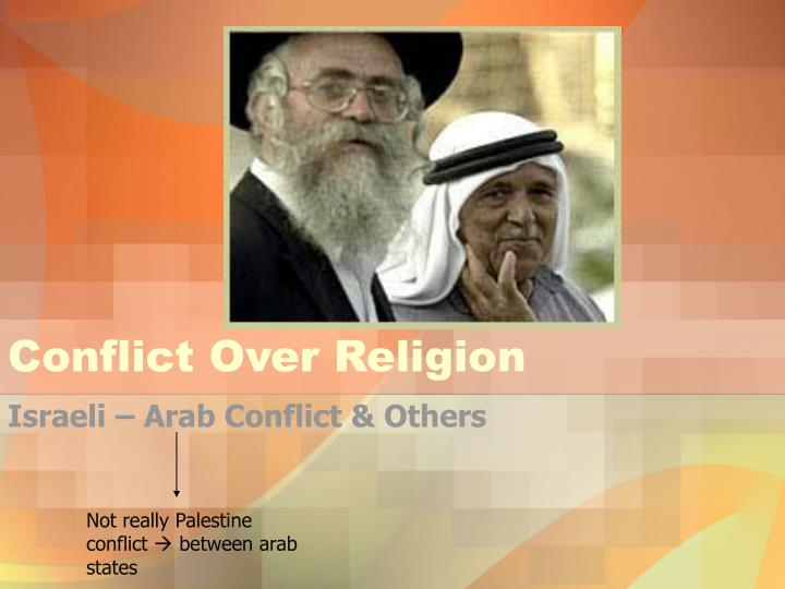 conflict over religion n.