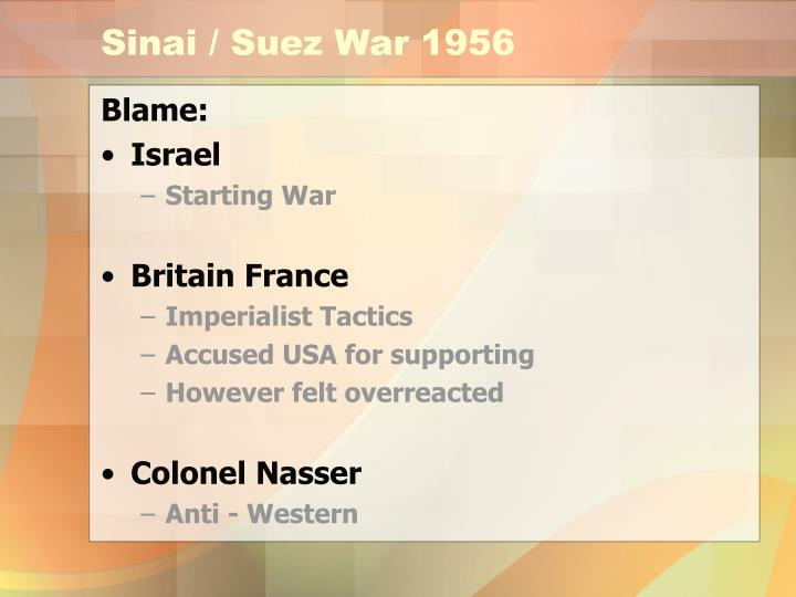Sinai / Suez War 1956