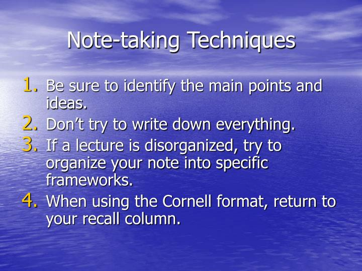 Note-taking Techniques