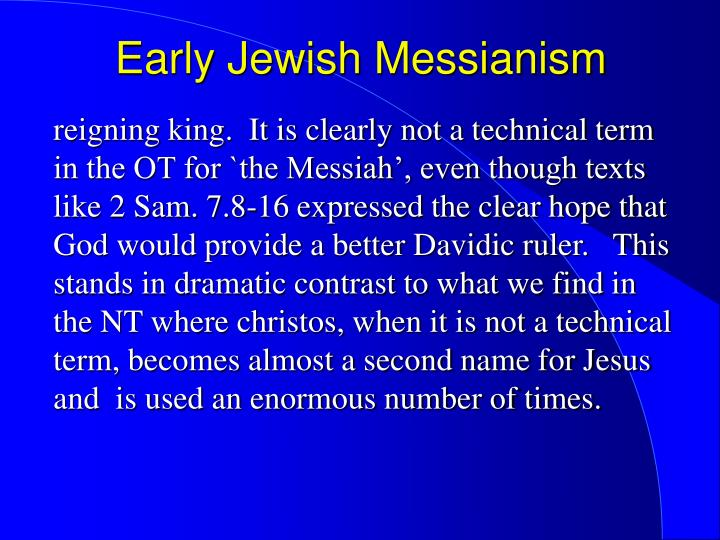 Early jewish messianism1